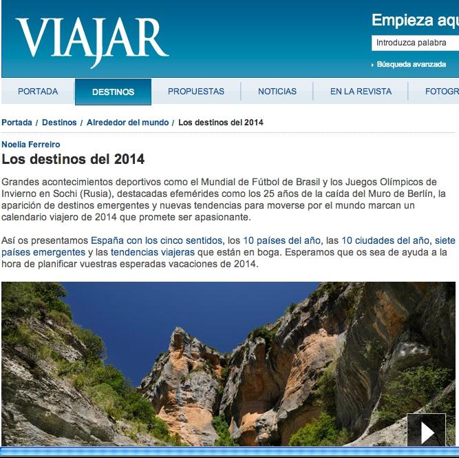 Enoturismo de Aragon en la Revista Viajar