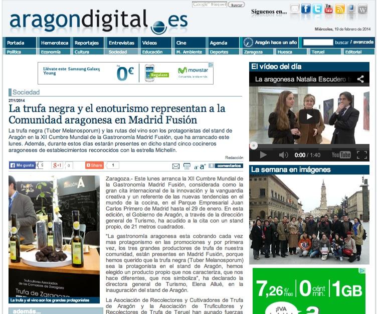 Enoturismo de Aragón en FITUR 2014