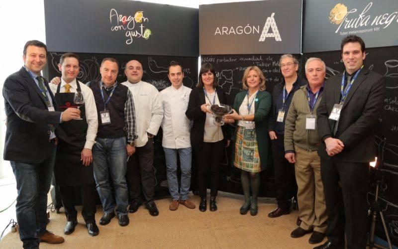 Aragón en Madrid Fusión con la trufa negra, el jamón y las rutas del vino