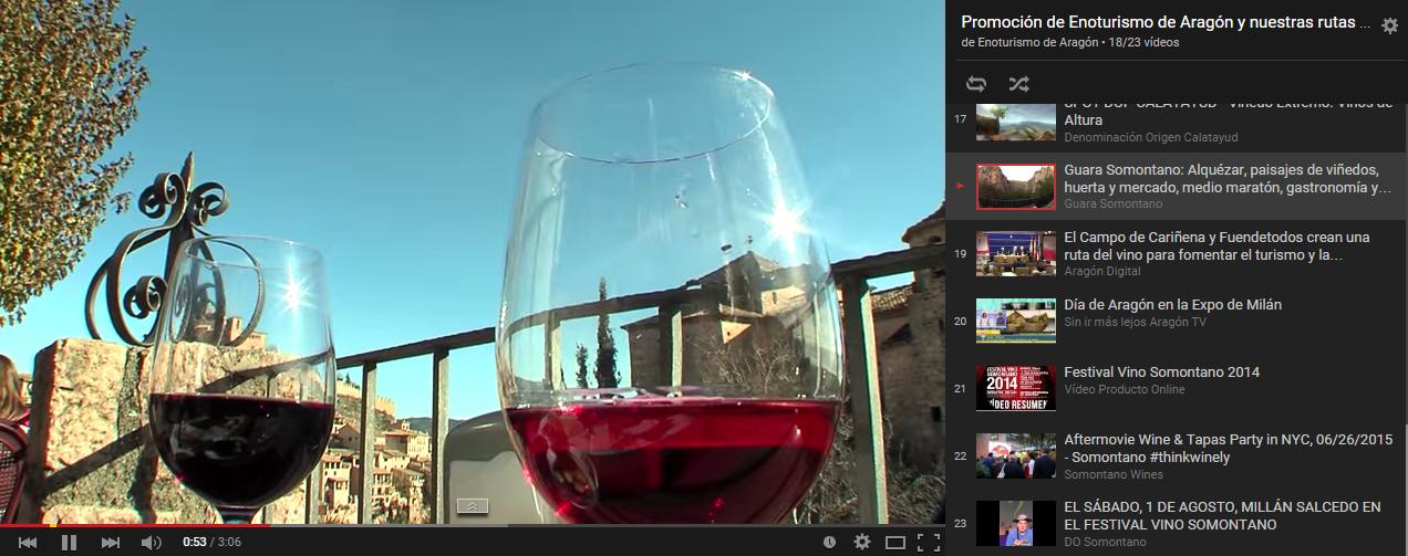 ¡Ya tenemos canal de youtube de Enoturismo de Aragón!
