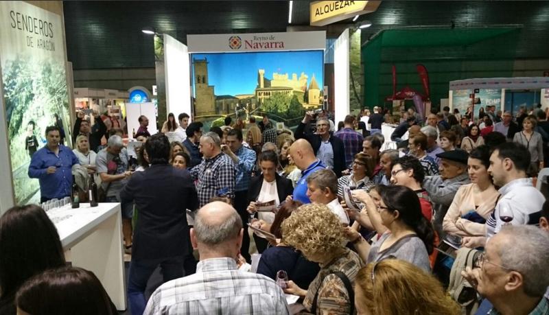 Los visitantes de Expovacaciones cataron las 4 rutas del vino de Aragón