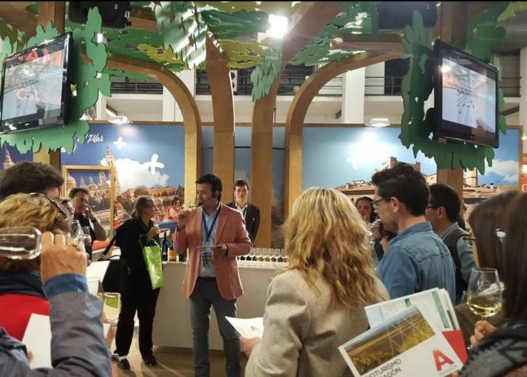 ¡Ambientazo en las catas de Enoturismo de Aragón en B Travel Show!